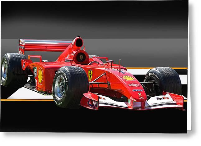 Ferrari Formula One F1 Greeting Card