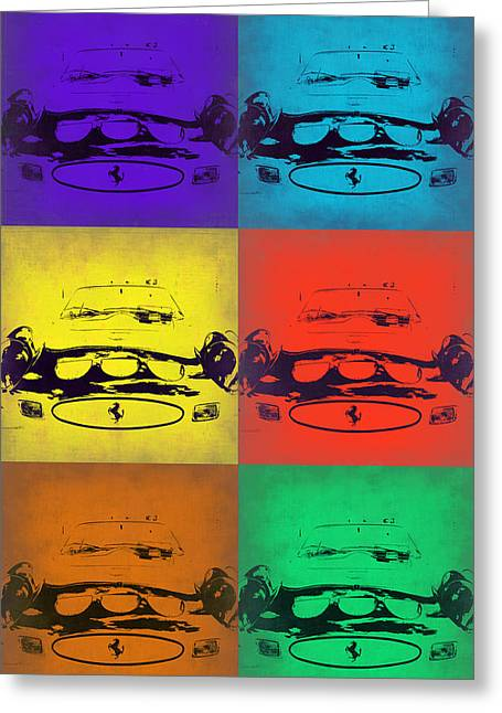 Ferrari Front Pop Art 5 Greeting Card
