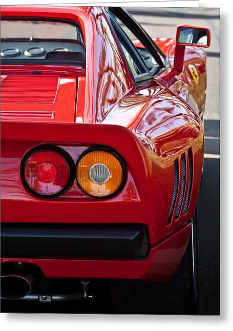 Ferrari Gto 288 Taillight -0631c Greeting Card by Jill Reger
