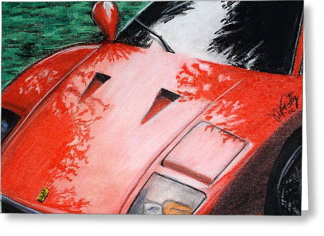 Ferrari In Red Greeting Card