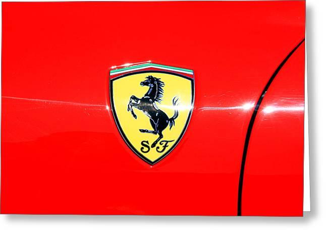 Ferrari Logo Greeting Card by Valentino Visentini