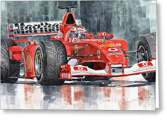 2002 Ferrari Marlboro F 2002 Ferrari 051 Rubens Borrichello Greeting Card