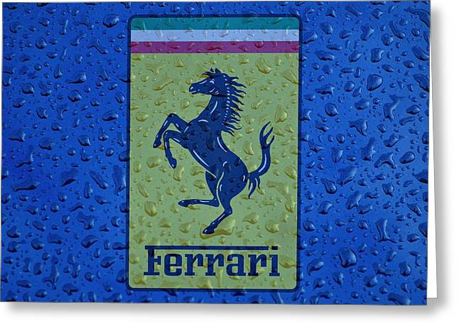 Ferrari Rainy Window Visual Art Greeting Card by Movie Poster Prints