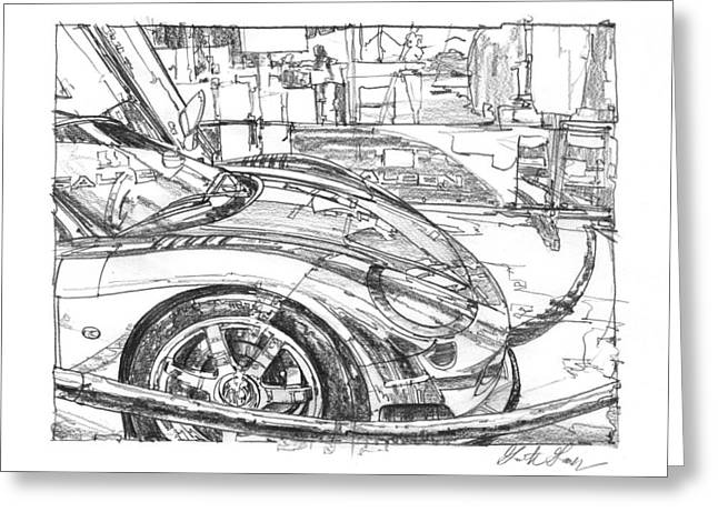 Ferrari-saleen Study Greeting Card