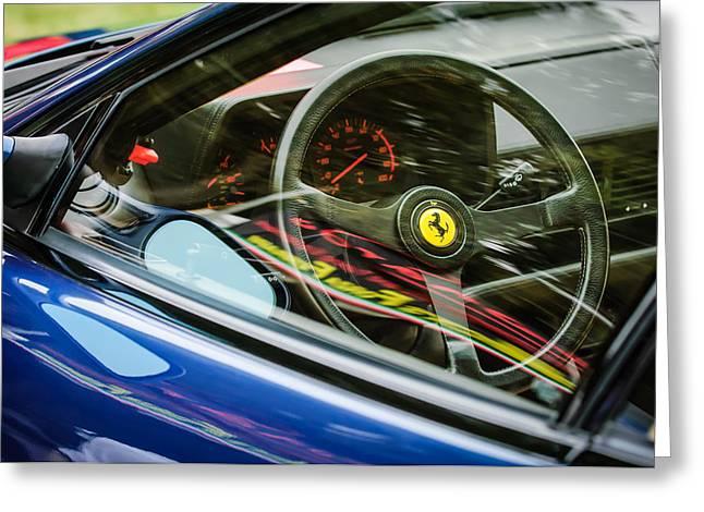 Ferrari Testa Rossa Tr Steering Wheel Emblem -0376c Greeting Card
