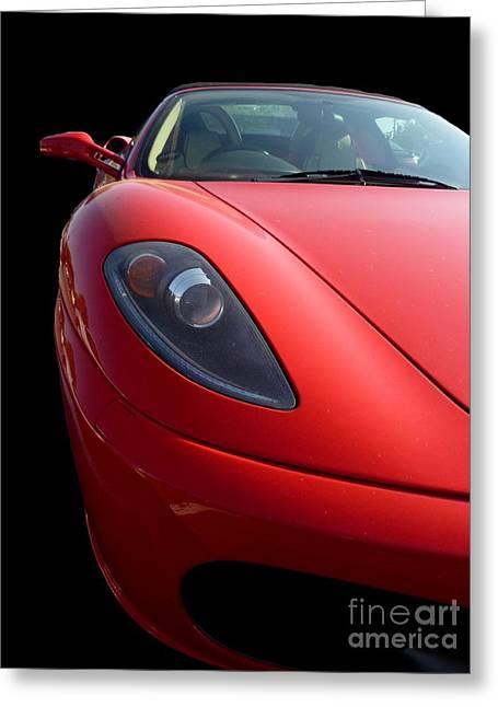 Ferrari Greeting Card by Vicki Spindler