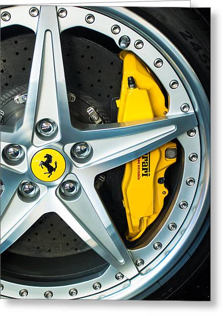 Ferrari Wheel 3 Greeting Card