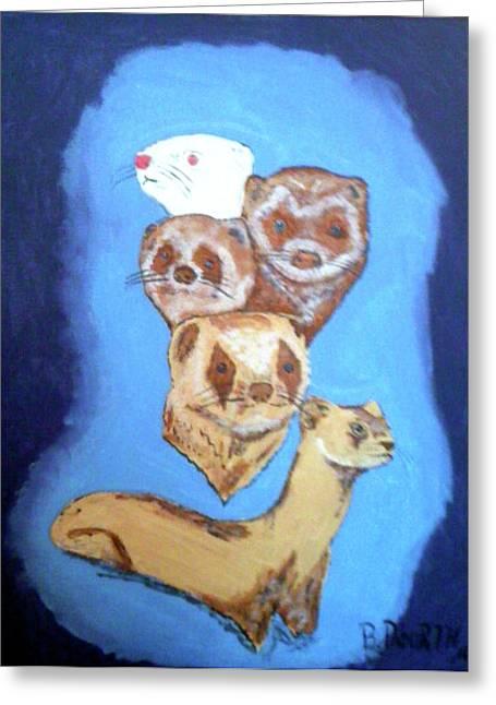Ferrets Galore Greeting Card