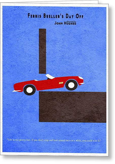 Ferris Bueller's Day Off Greeting Card by Ayse Deniz