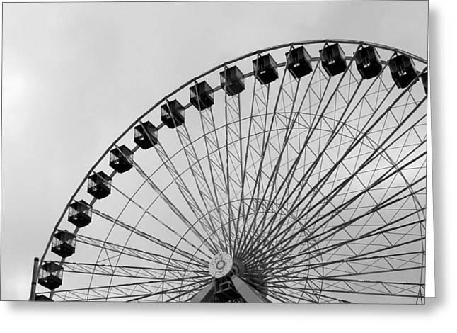 Ferris Wheel Greeting Card by A K Dayton