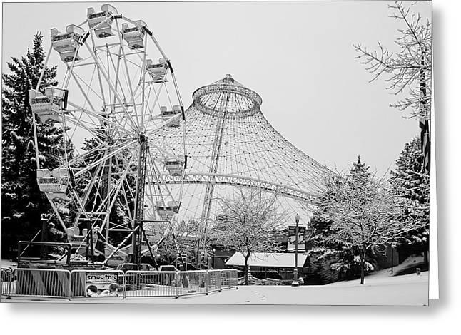 Ferris Wheel And R F P Pavilion - Spokane Washington Greeting Card by Daniel Hagerman