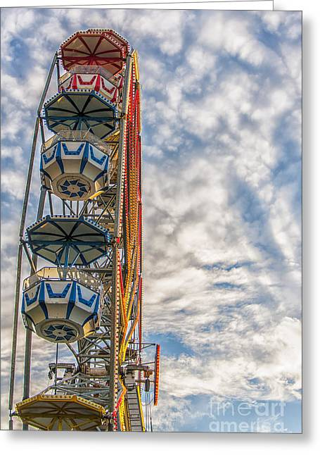 Ferris Wheel Greeting Card by Antony McAulay