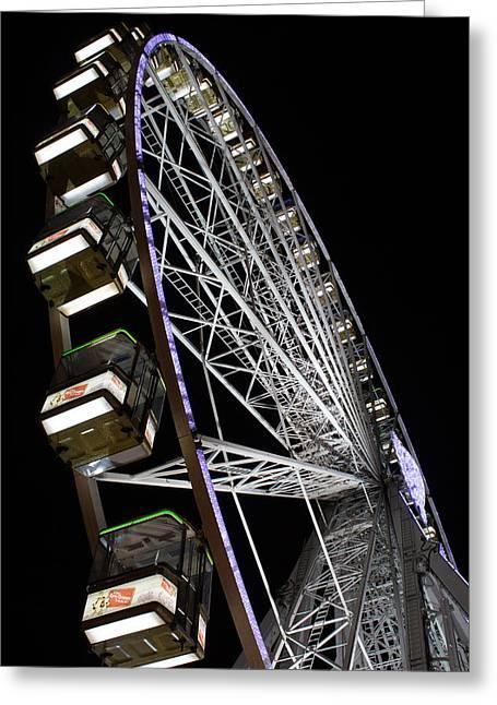 Ferris Wheel At Night Greeting Card