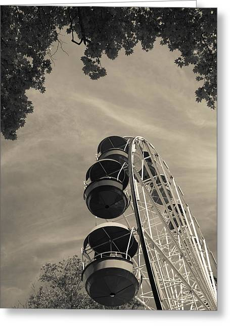 Ferris Wheel At Riviera Park, Sochi Greeting Card by Panoramic Images