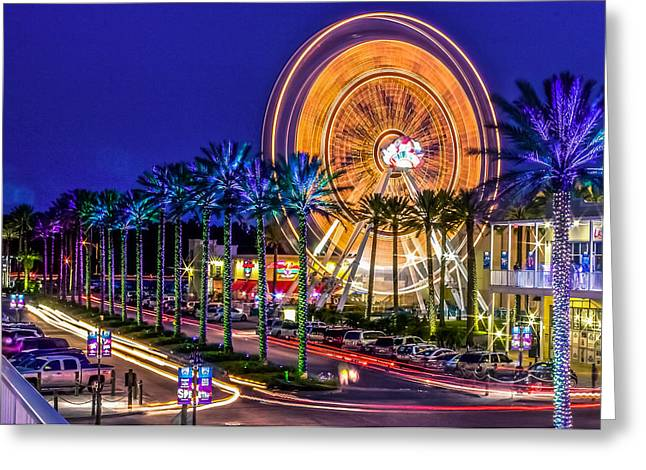 Ferris Wheel At The Wharf Greeting Card by Rob Sellers