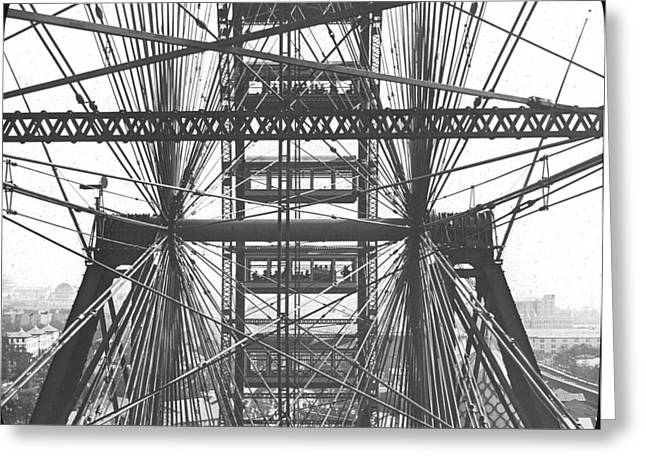 Ferris Wheel Close Up At Chicago Worlds Fair Columbian Exposition Greeting Card