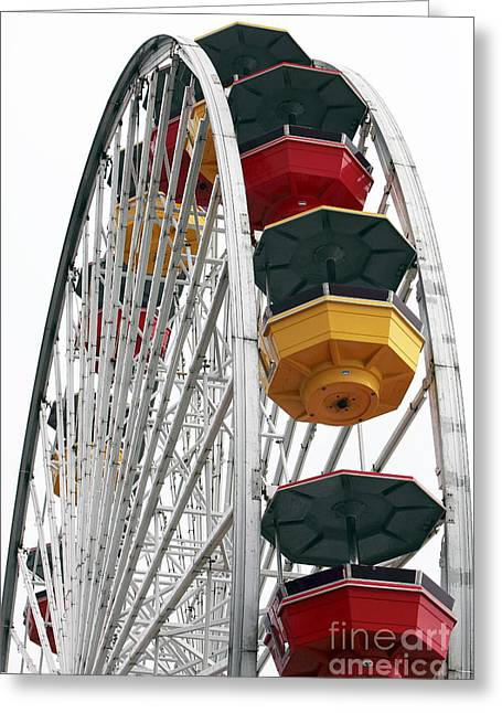 Ferris Wheel Colors Greeting Card by John Rizzuto