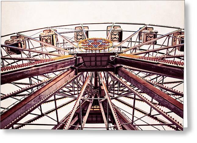 Ferris Wheel In Color Greeting Card