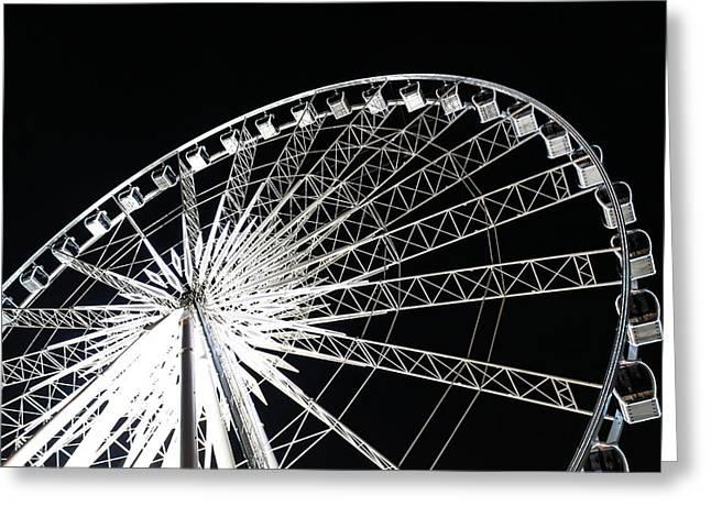 Ferris Wheel Greeting Card by Nawarat Namphon