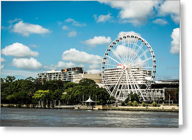 Ferris Wheel On The Brisbane River Greeting Card