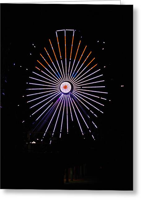 Ferris Wheel Santa Greeting Card
