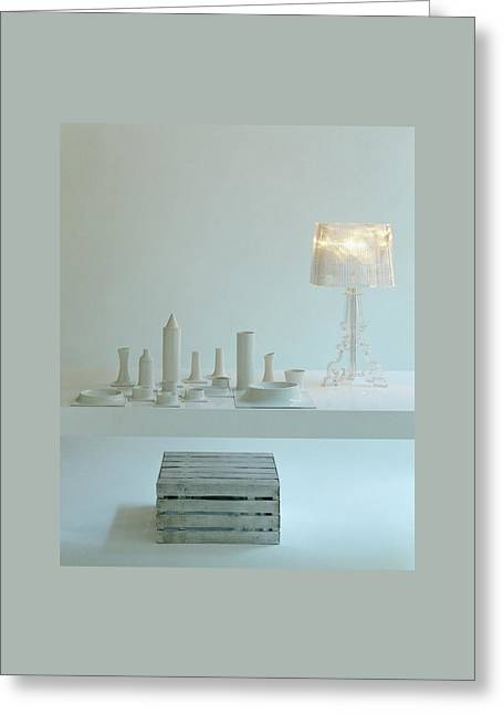 Ferruccio Laviani's Bourgie Lamp From Kartell Greeting Card by Romulo Yanes