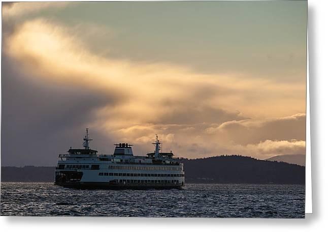 Ferry Crossing Greeting Card