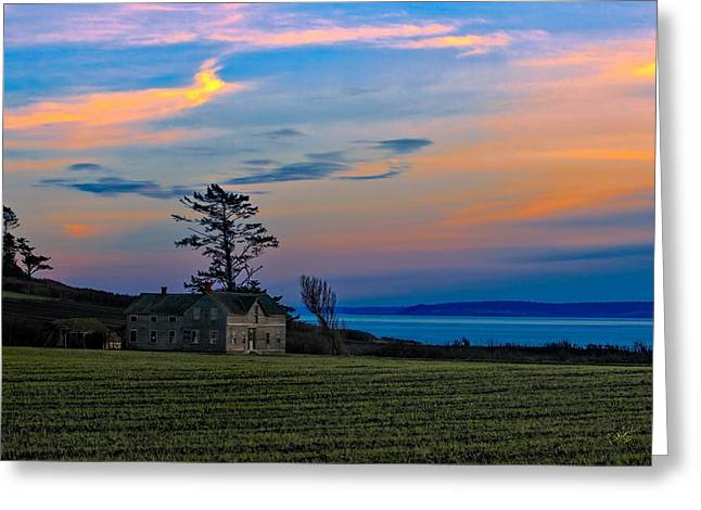 Ferry House Sunset Greeting Card