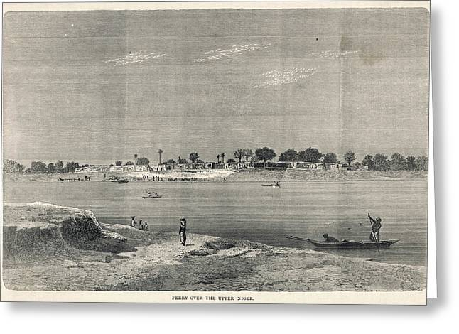 Ferry Over The Upper Niger Greeting Card