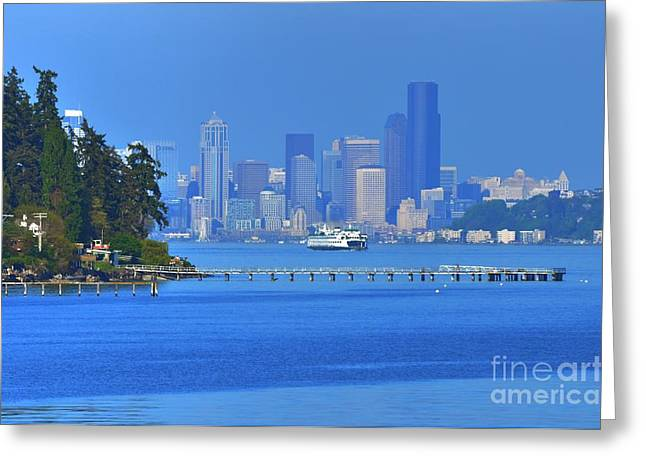 Ferry Ride In Seattle Greeting Card