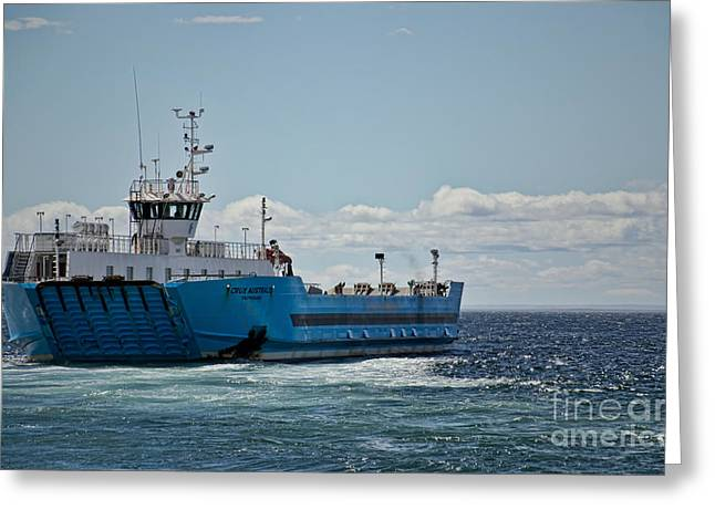 Ferryboat In Chilean Waters Greeting Card by Gerda Grice