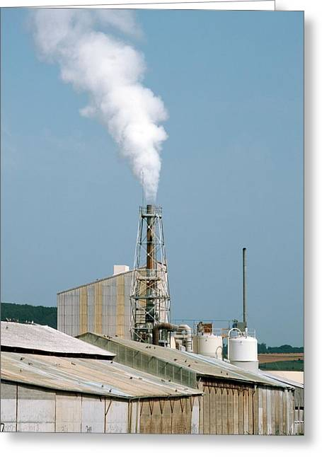 Fertiliser Factory Smokestack Greeting Card by Alex Bartel