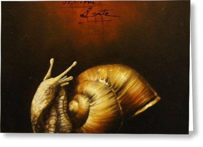 Festina Lente Greeting Card by Simone Galimberti
