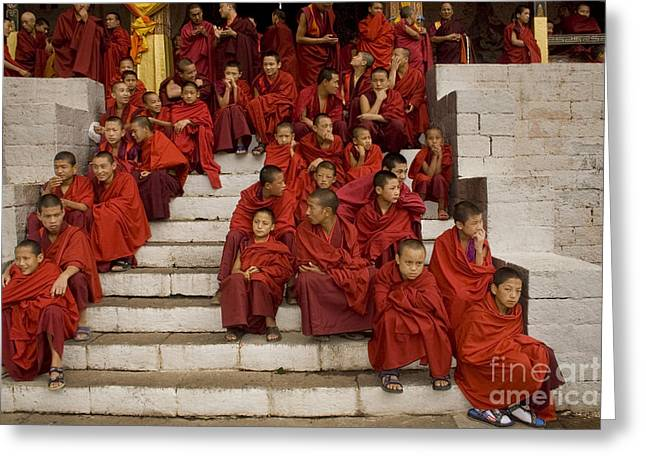 Greeting Card featuring the digital art Festival In Bhutan by Angelika Drake