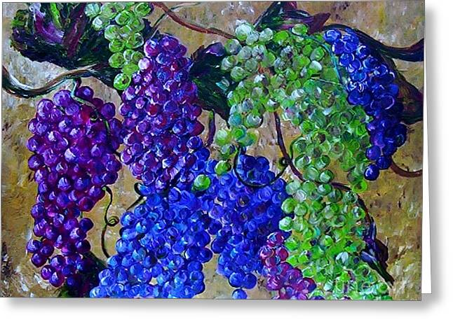 Festival Of Grapes Greeting Card by Eloise Schneider