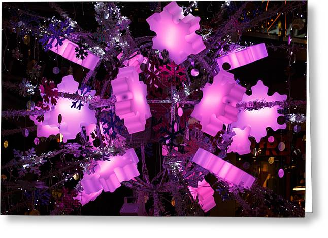 Greeting Card featuring the photograph Festive Lights by Paul Indigo