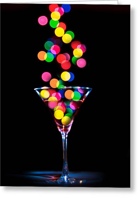 Festive Martini Greeting Card by Cecil Fuselier