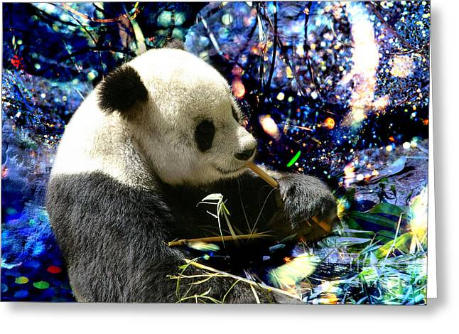 Festive Panda Greeting Card