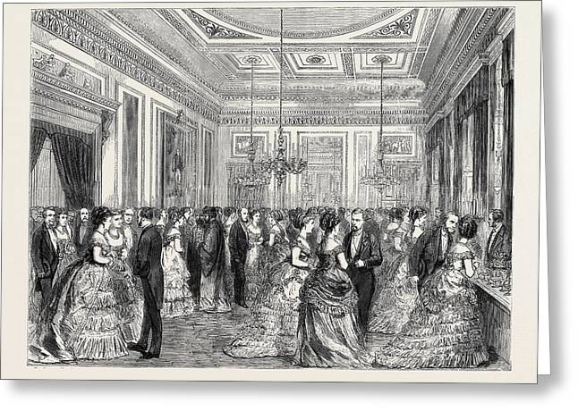 Festivities At Fishmongers Hall, The Court Dining Room Greeting Card