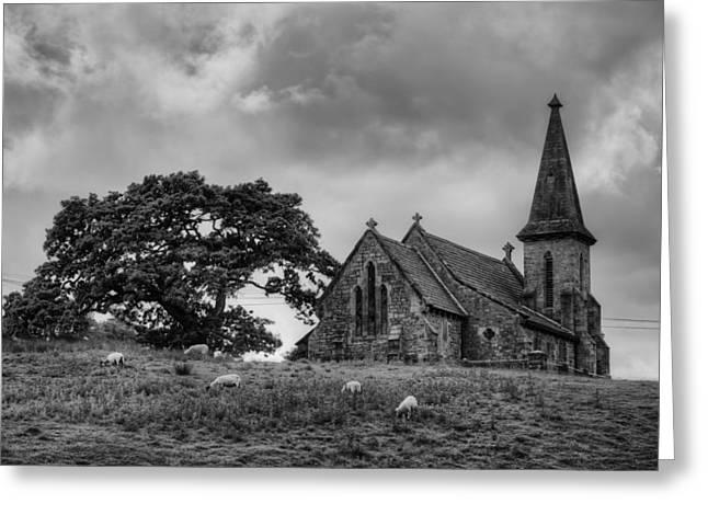 Fewston Church And Sheep Greeting Card