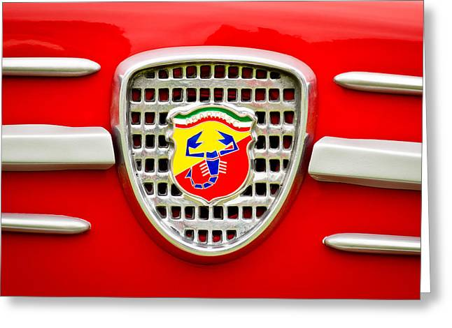 Fiat Emblem Greeting Card by Jill Reger