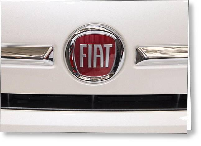 Fiat Logo Greeting Card by Valentino Visentini