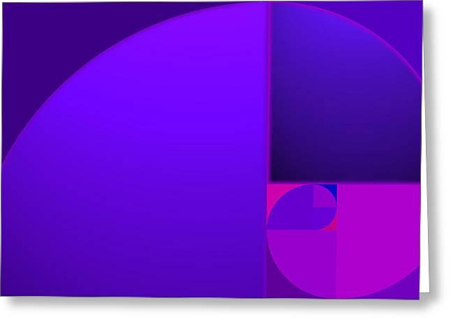 Fibonacci Blue Greeting Card