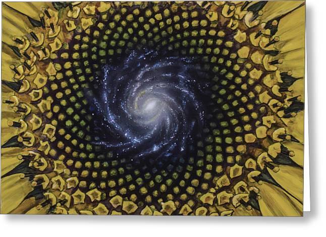 Fibonaccis Mandela V.2 Greeting Card by Simon Kregar