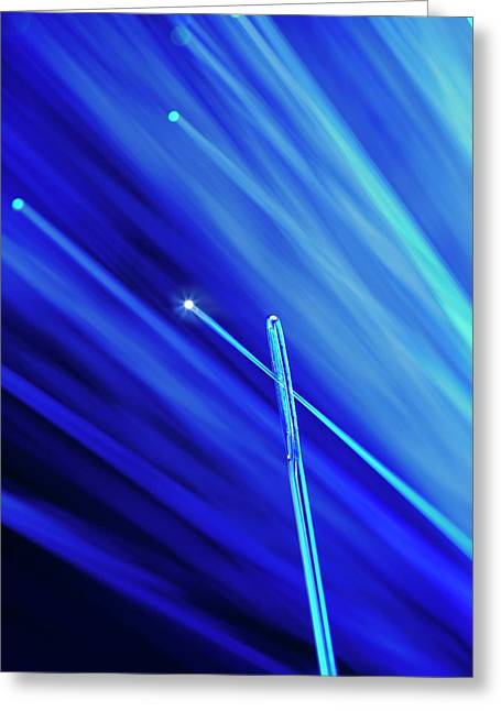 Fibre Optic And Needle Greeting Card