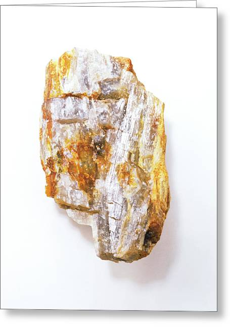 Fibrous Sillimanite Greeting Card