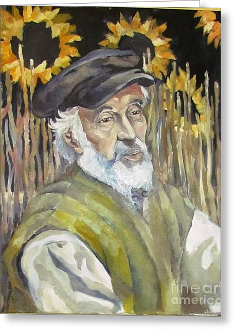 Fiddler On The Roof Greeting Card by Michael Vaisman