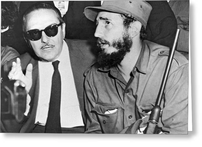 Fidel Castro And Urrutia Greeting Card