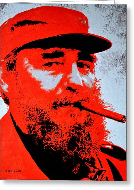 Fidel Castro Greeting Card