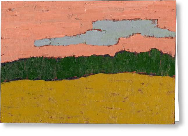 Field At Sunset Greeting Card by David Dossett